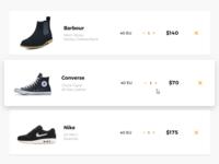 Daily UI #058 – Shopping Cart