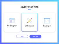 Daily Ui #064 – Select User Type