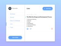 Daily UI #065 – Notes Widget