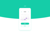 Daily UI #080 – Date Picker