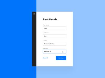 Daily UI #082 – Form