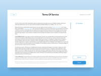 Daily UI #089 – Terms Of Service