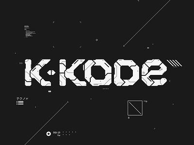 K-Kode logo and artwork digital art affinitydesigner scifi ui logodesign label techno artwork art logo