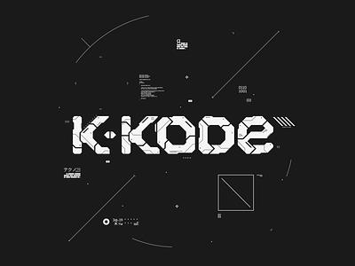 k-kode recordings branding motion graphics mograph affinity designer label techno logo design interface sci-fi ui digital art logo branding