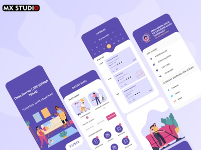 Clean Service-ქლის სერვისი App Design web ux ui georgian georgia aplication app design app design ქართული