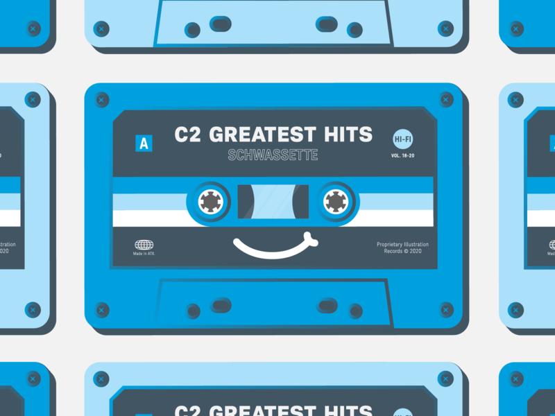 Schwassette Tape cassette lettering illustration design illustrator vector