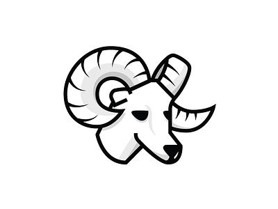 Ram vector logo ram goat animal illustrator horns