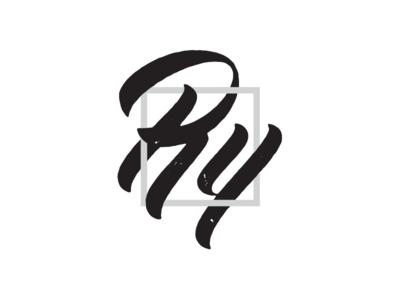 Overlap illustrator monogram logo