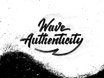Wave Authenticity process illustrator texture lettering