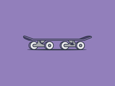 Kick, Push flat setup illustrator vector skateboard