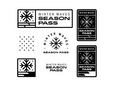 Winter Waves Branding pass pattern waves winter vector branding