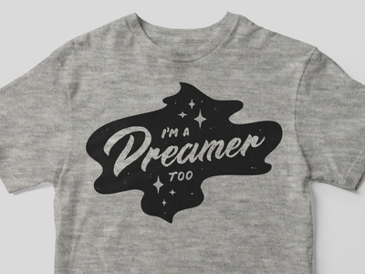 We're all Dreamers shirt mockup lettering vector dream dreamers