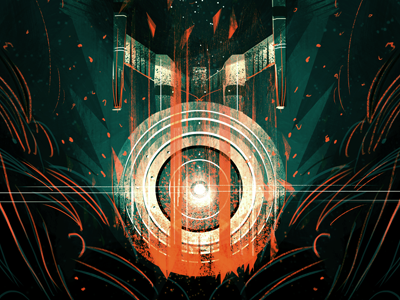 Into Darkness / Print Posse #2 star trek print posse ship space skull darkness crash orange blue death