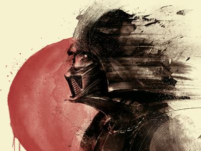 Lord Vader nemesis star wars show exhibit dark side portrait digital painting force