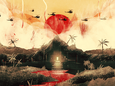 Apocalypse Now / Fan art apocalypse now red show exhibition fan art digital painting sun blood movie