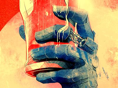 The World's End alternative poster fan art movie film beer cheers illustration graphic design digital
