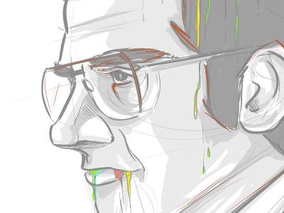 Brick / WIP brick sketch anchorman rainbow steve carell