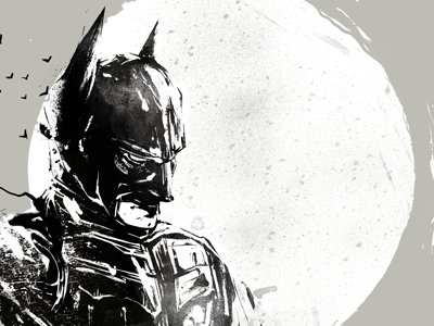 The Bat x Variant batman artwork digital painting art fan art print screen print poster comic dc