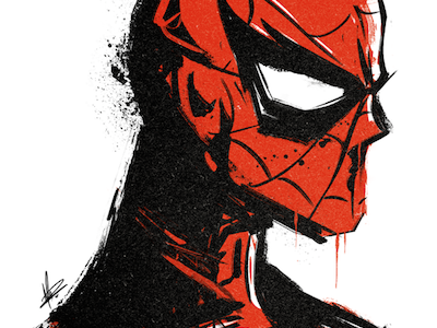 Spidey | Fundraise spiderman sketch doodle marvel superhero fundraise illustration screen print