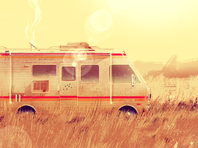Where it all began x Breaking Bad breaking bad rv heisenberg walter white print fan art digital art