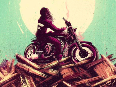Curb Stomp x Variant cover curb stomp comic cover illustration motorcycle girl brat rebel