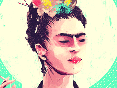 Frida Kahlo x Gauntlet Gallery frida portrait kahlo art illustration digital painting