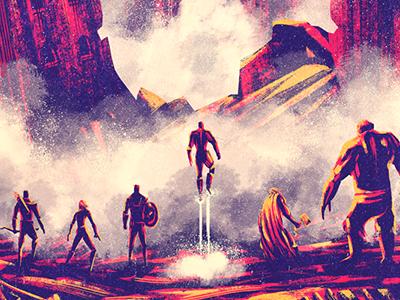 Age of Ultron avengers superheroes fan art poster movie print iron man hulk hawked america marvel
