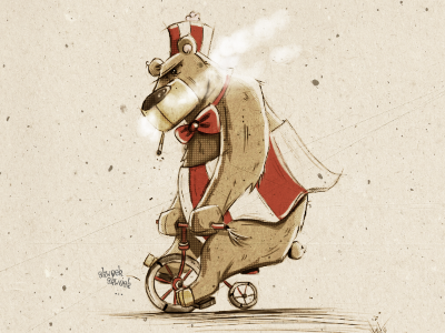 Circus Bear. circus bear illustration cartoon comic photoshop sketch