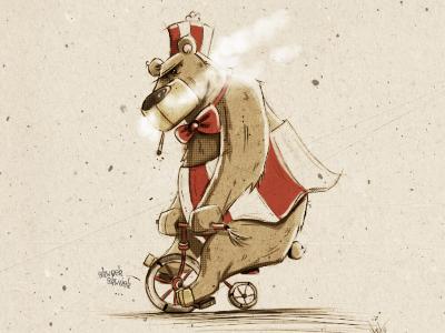 Circus Bear. circus bear illustration cartoon comic photoshop sketch