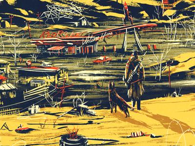 Fallout apocalypse world game print poster art fan fallout