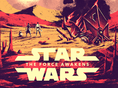 The Force Awakens poster fan art film side dark kylo awakens force wars star