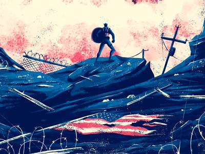 Hail Hydra! superhero poster art illustration print fan art july 4th hydra hail america captain