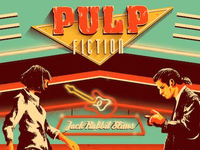 Jack Rabbit Slims x Commission freelance commission poster tarantino classic film movie fiction pulp