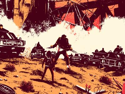 Logan screenprint print film logan marvel wolverine jackman hugh poster art fan