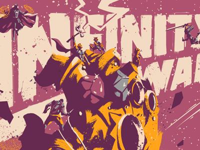 Infinity War thanos marvel superhero fan art screenprint war infinity