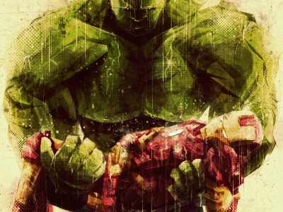 Brothers in Arms avengers iron man hulk movie comic art digital photoshop sketchy rain death