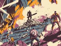 Endgame endgame avengers design poster art movie digital photoshop illustration