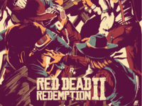 Red Dead Redemption II fan art poster limited print arthur morgan red dead redemption video game