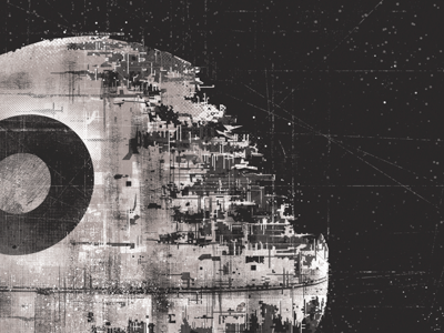 Death Star star wars weapon choice exhibition death digital painting vader moon space
