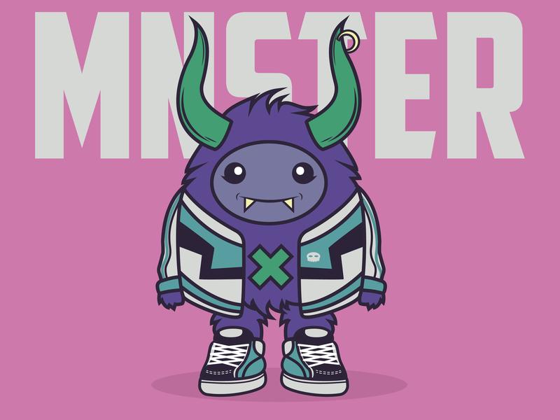 Mnster branding creación de personaje vector art vector monster colors design kawaii charachter design diseño ilustracion illustration
