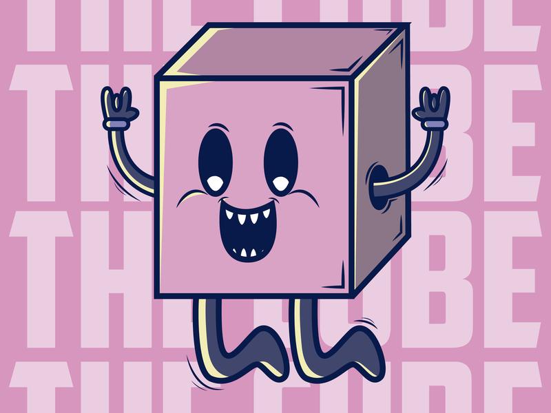The Cube illustration colors design creación de personaje color kawaii charachter design vectorart vector ilustración