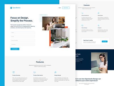 SaaS Website Landing Page typography vector web ui saas landing page landing page web designer web design