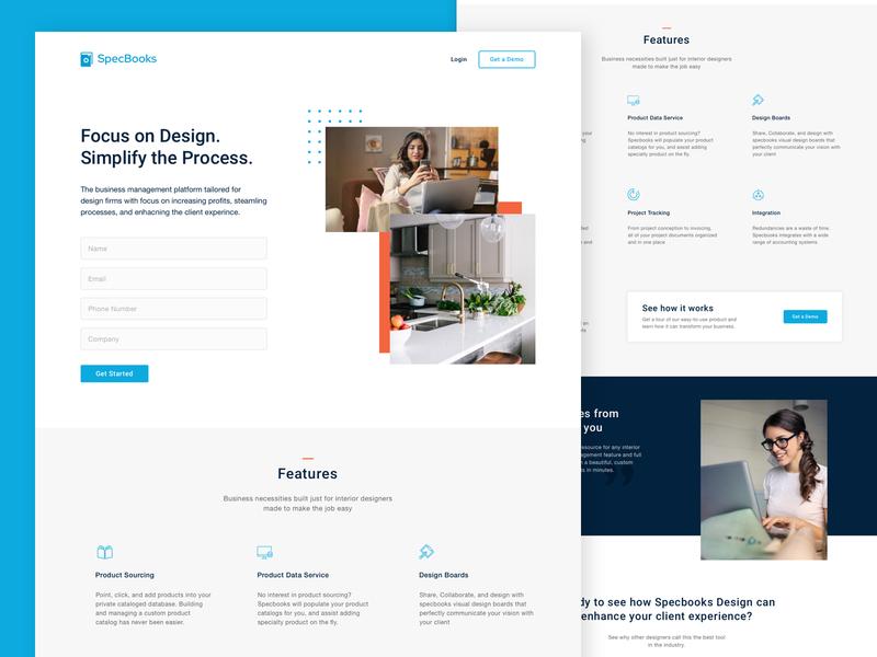 SaaS Website Landing Page