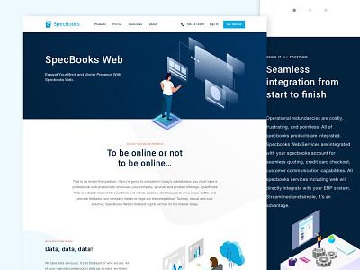 Web Service Page Design responsive web design isometry isometric illustration isometric design website concept landing page design webdesign website design