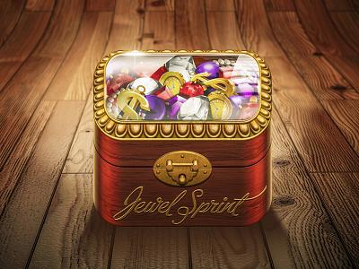 Icon Jewel Sprint icon icons iphone apple app ios ui jewel box wood gold ornaments diamond sketch sketches draw paper