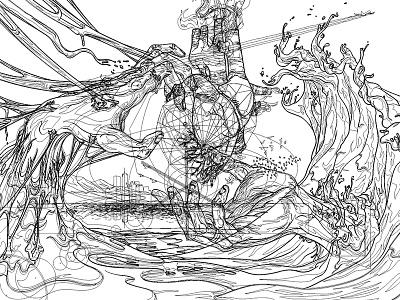 Unfinished Sympathy (vector) gang vector sosoa main wave hand cœur heart illustrator dune vectoriel illustration