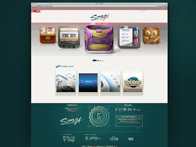 Sosoa New Portfolio portfolio web website gang sosoa design new work random logo switch button