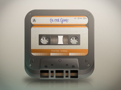Icon Tape icon icons tape cassette iphone app gang apple volume music oldschool texture audio face ios vintage play retro