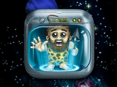 Eros Game icon icon iphone apple app ios ui alien game box character teleport space