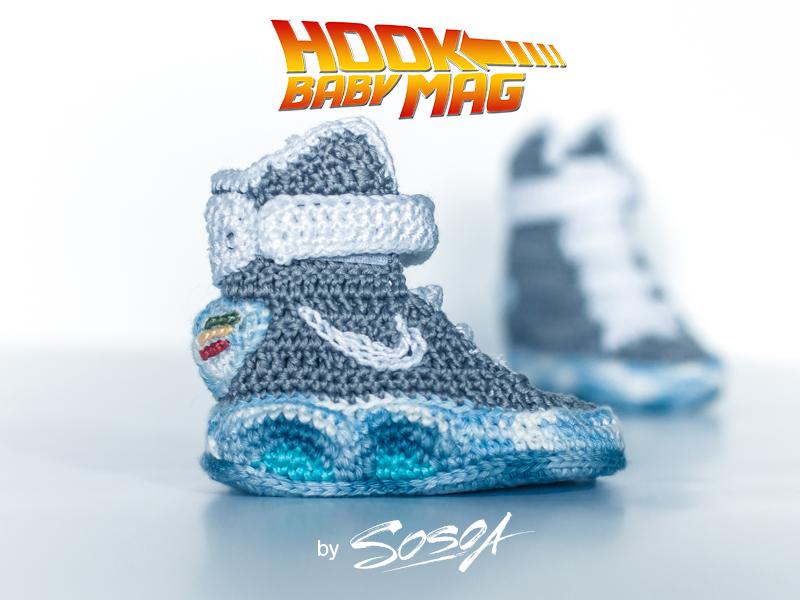 Nike hooked Mag nike air mag mag sneakers hook hooked back to the future brand wool yarn baby